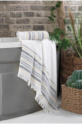 Nakkısh %100 Pamuk Banyo Havlu Seti 70x130-50x90-orka