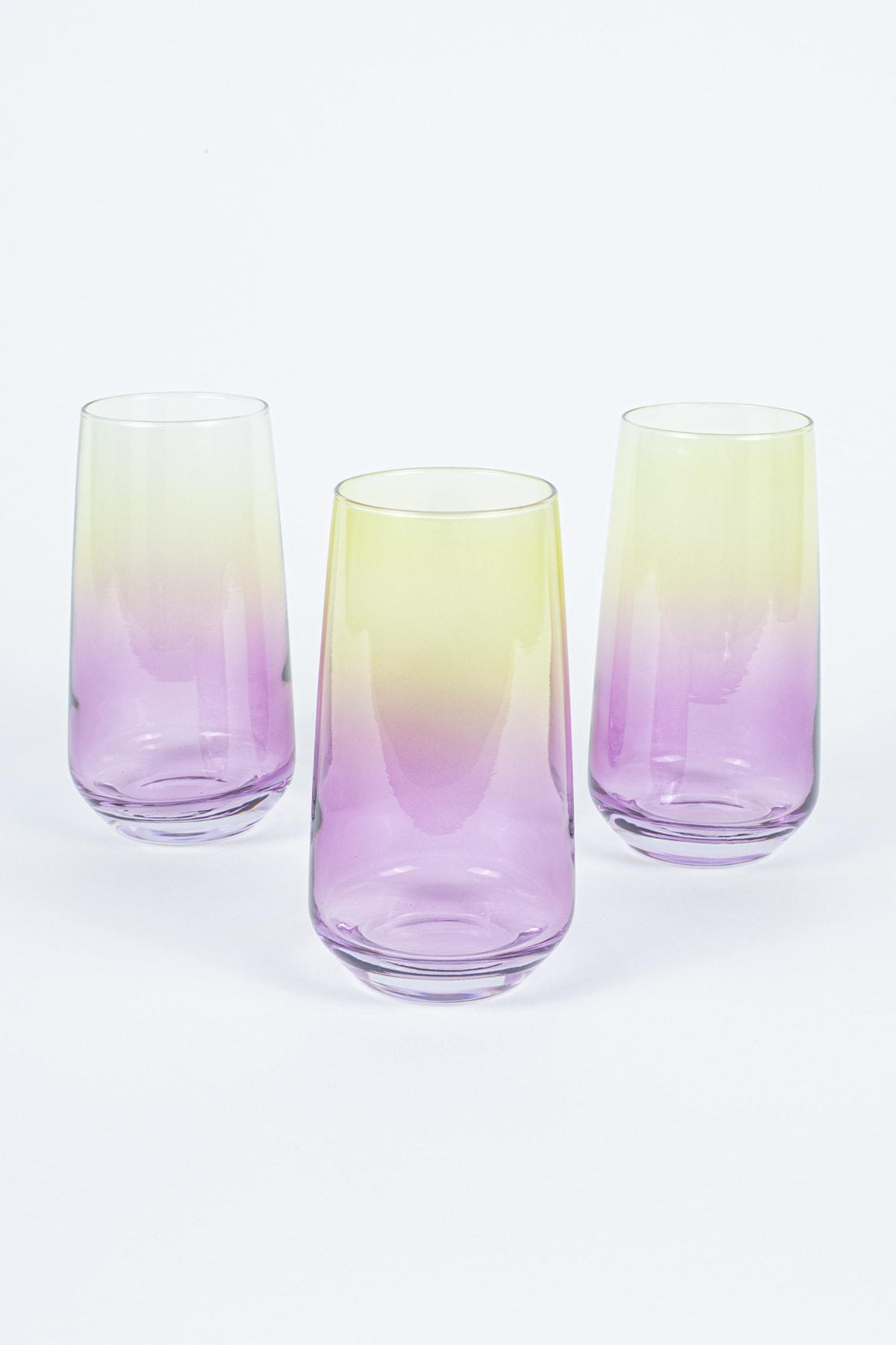 Rakle Paradise 3'lü Meşrubat Bardağı Seti_Pembe  470 cc