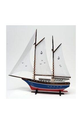 OKYANUS TEKNE Bez Yelkenli Açık Yat Modeli – Gemi Tekne Kayık Sandal Maketi
