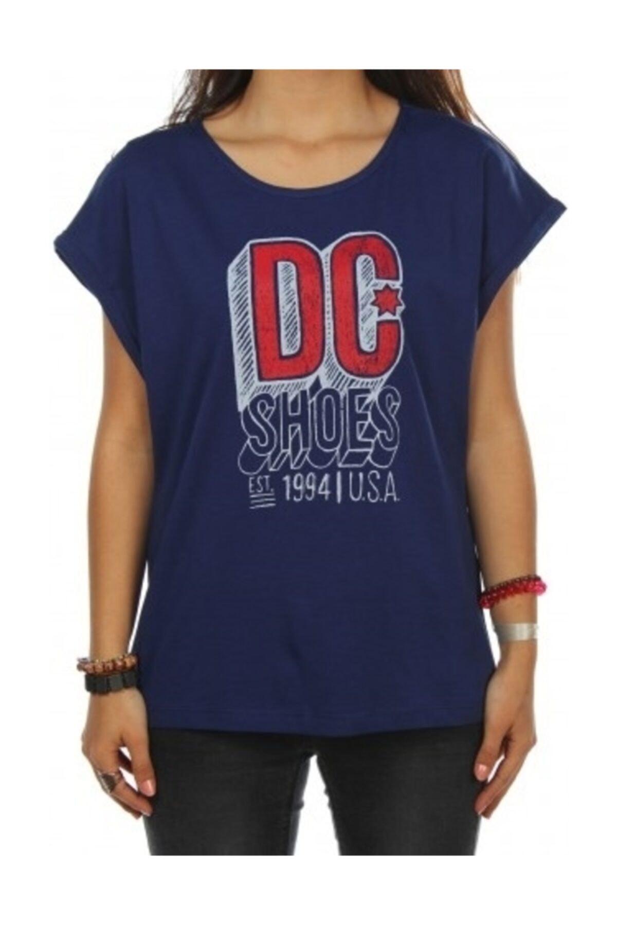 DC Chalkline Tee Blue Prt Kadın Tişört 1