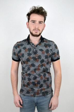 Mcr Erkek Polo Yaka T-shirt Yaprak Model