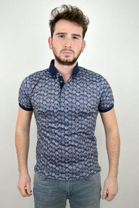 Mcr Erkek  Polo Yaka T-shirt Renkli Yuvarlak Model