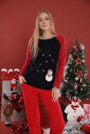Lohusa Sepeti Kadın  Kar Desenli Pijama Takımı