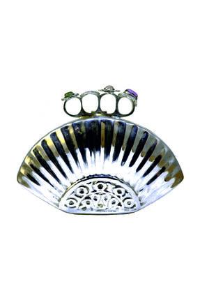 CROCUS.BAG Gümüş Kadın  Portföy & Clutch Çanta Metal