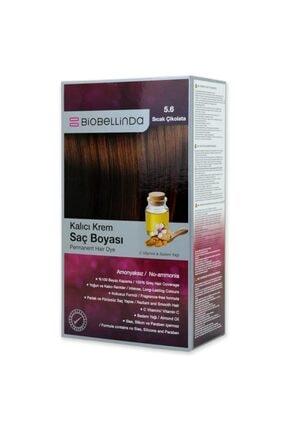 BioBellinda Amonyaksız Ve Kokusuz Kalıcı Krem Saç Boyası - 5.6 Sıcak Çikolata