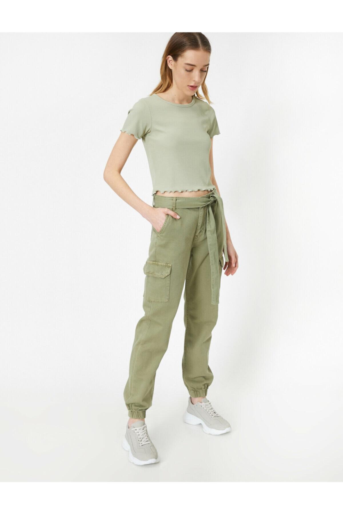 Koton Yeşil Kargo Pantolon 2