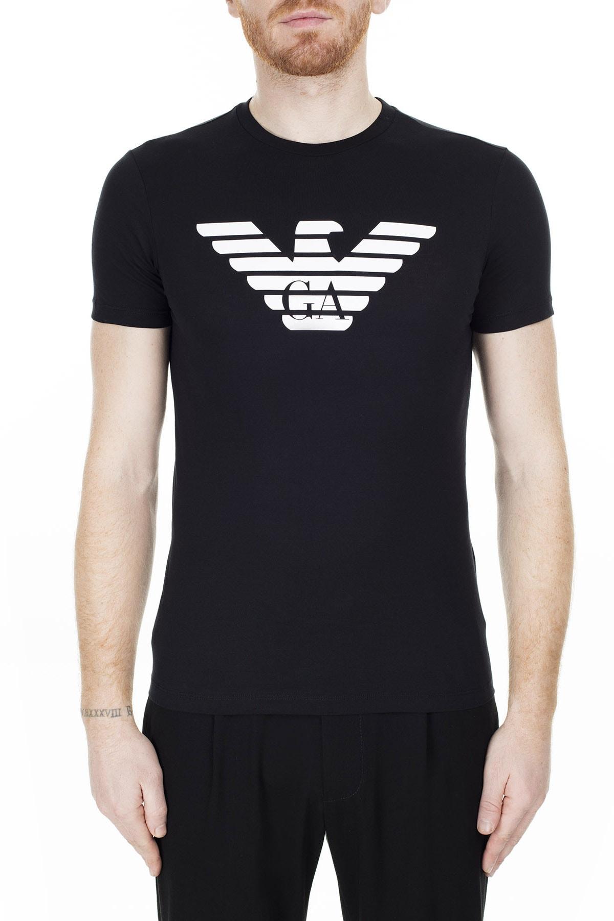 Emporio Armani Siyah Erkek T-Shirt 8N1T99 1JNQZ 0999