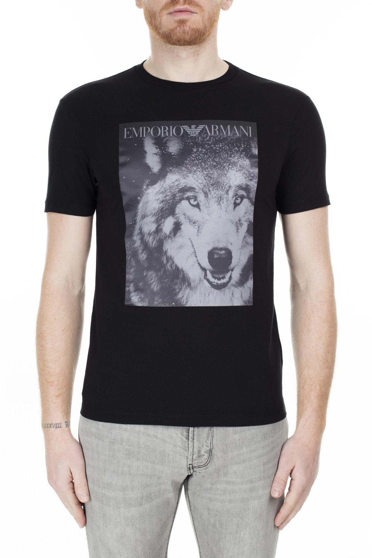 Emporio Armani T Shirt Erkek T Shirt S 6G1T77 1J19Z 0999 S 6G1T77 1J19Z 0999