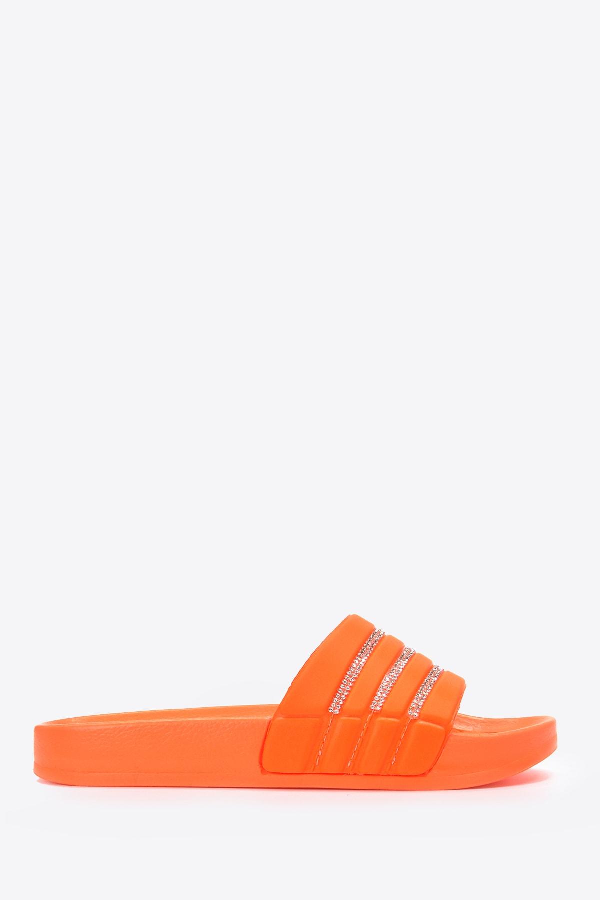 Vizon Ayakkabı Kadın Neon-Turuncu Terlik Vzn20-114y 2