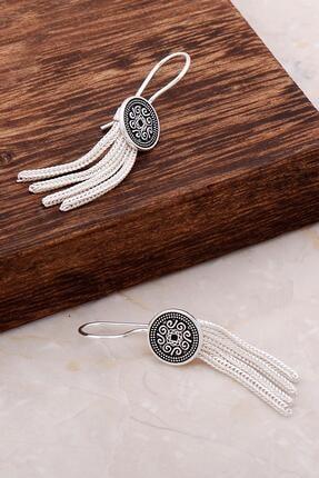 Sümer Telkari Asur Motifli Elişi Sallantılı Gümüş Küpe 4908