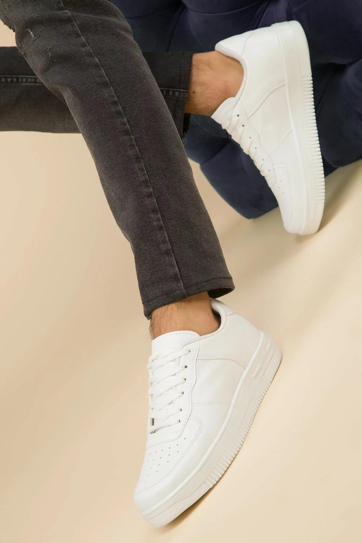 MUGGO Beyaz Unısex Sneaker Ayakkabı 2