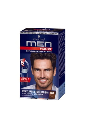 SCHWARZKOPF HAIR MASCARA Men Perfect 80 Siyah Kahve 1 Li