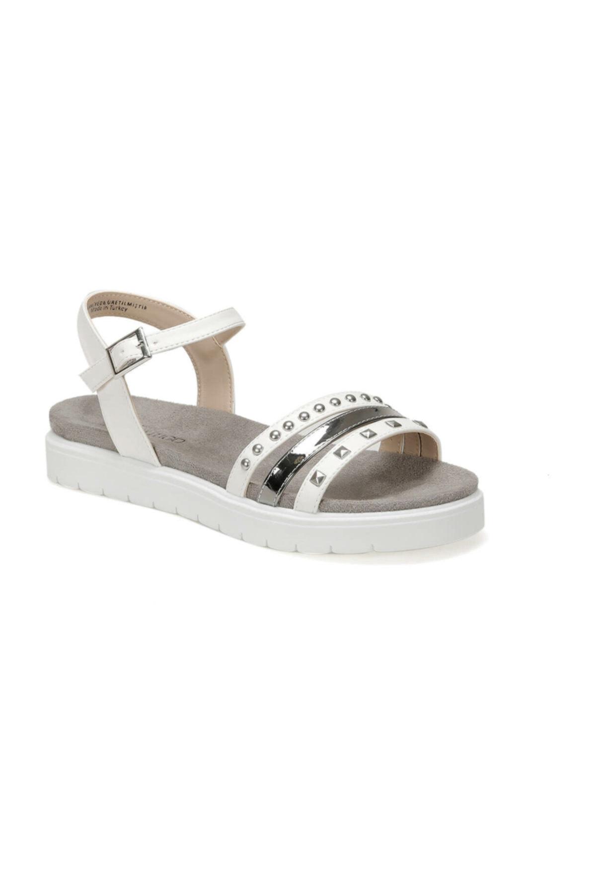 Butigo CS19119 Beyaz Kadın Sandalet 100382561 1