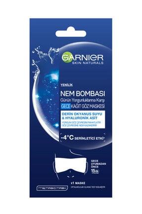 Garnier Nem Bombası Gece Kağıt Göz Maskesi 6G