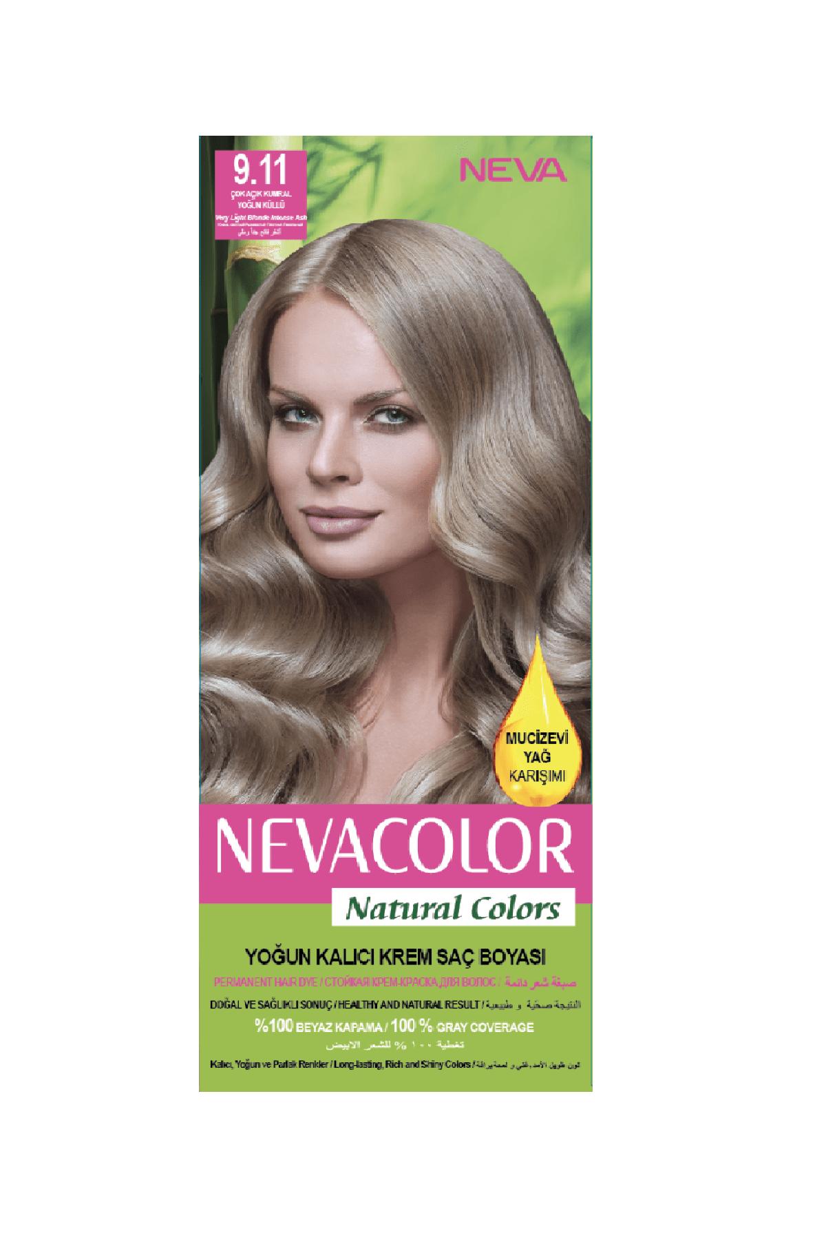 Neva Color Saç Boyası Seti 9.11 Çok Açık Kumral Yoğun Küllü  8698636612005 1