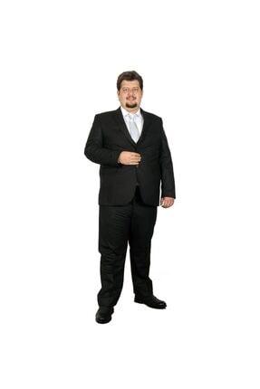 ModeXL Büyük Beden Takim Elbise Yelek Bogart 17003a Siyah
