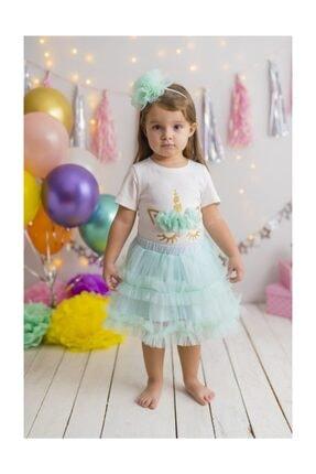 PixyLove Kız T-shirt Mint Unicorn