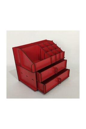 Turuncu Lazer Makyaj Organizeri Kırmızı