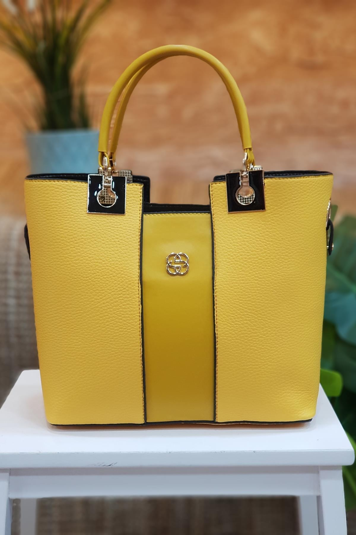Limoya Bags Molly Sarı Kadın El Ve Omuz Çantası 1