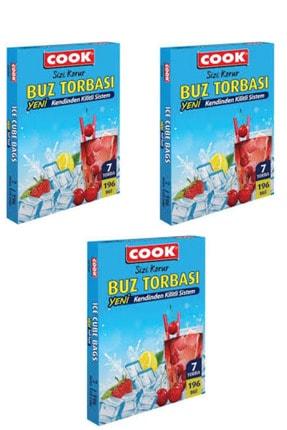 COOK Buz Torbası 7 torba x 3 adet