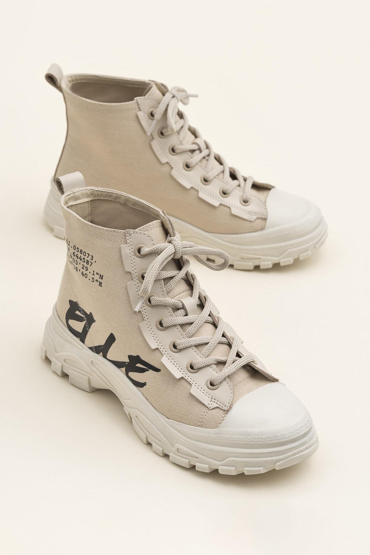 Elle Shoes KAYCE Bej Kadın Bot 1