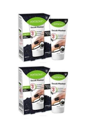 remove Tüy Dökücü Aktif Karbon Bacak Maskesi 200 ml X 2 Adet