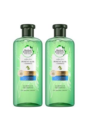 Herbal Essences Aloe Gücü + Bambu Sülfatsız Şampuan 380 ml x2