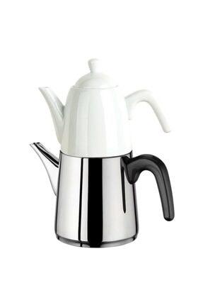 Aryıldız De Luxe Porselen Demlikli Çaydanlık Siyah
