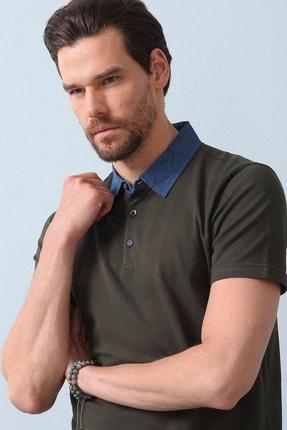Ramsey Erkek Haki Jakarlı Örme T - Shirt RP10119901