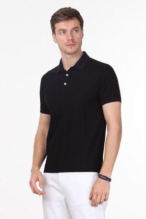 Ramsey Erkek Siyah Jakarlı Örme T - Shirt RP10119913