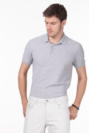 Ramsey Erkek Açık Gri Jakarlı Örme T - Shirt RP10119913