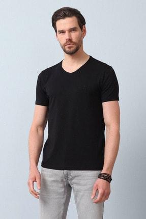 Ramsey Erkek Siyah Düz Örme T - Shirt RP10120599
