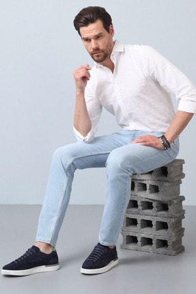 Ramsey Erkek Lacivert Düz Denim Pantolon RP10119921