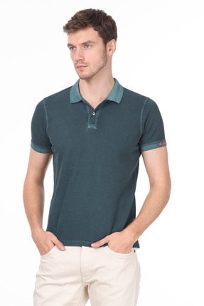 Ramsey Erkek Yeşil Düz Örme T - Shirt RP10120144