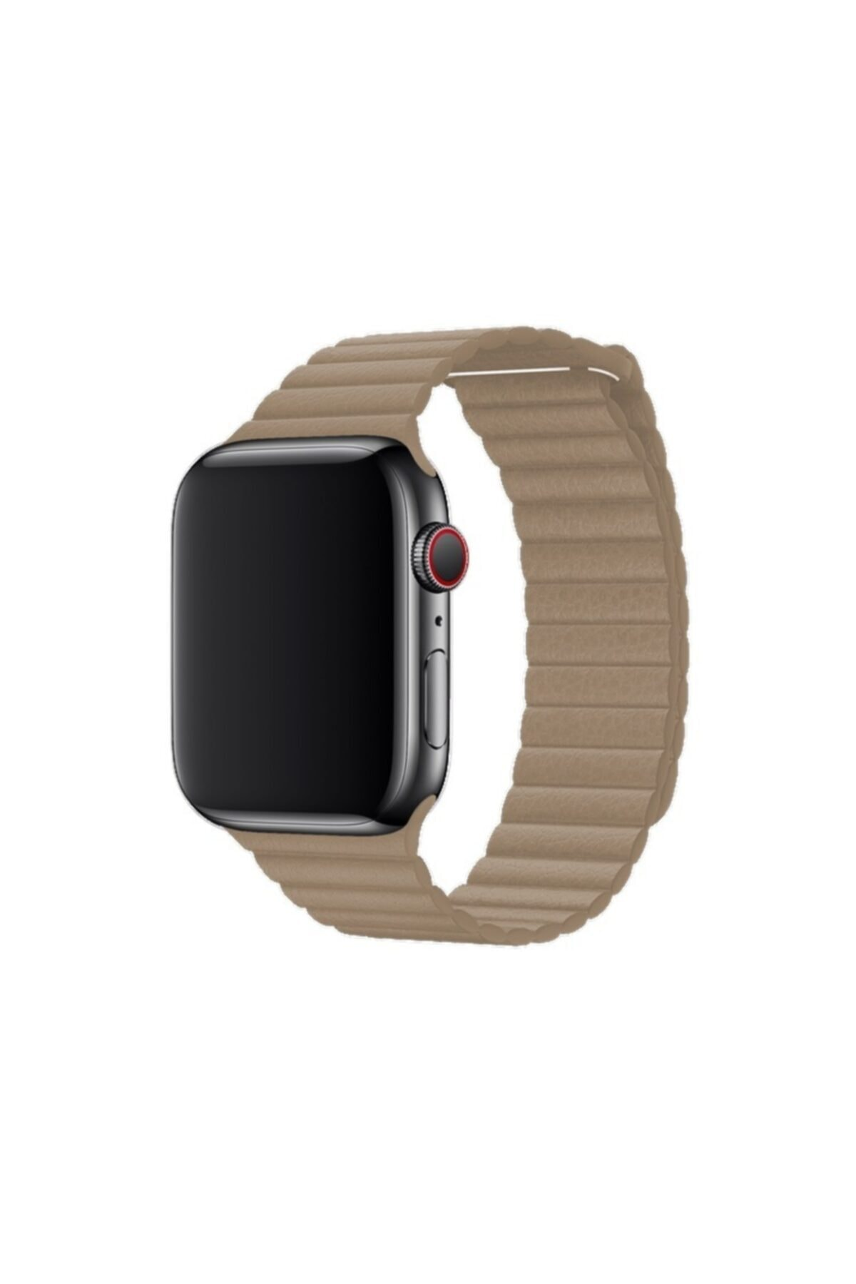 Schulzz Krem Apple Watch Seri 1-2-3-4-5 Premium 42-44 mm Kordon 2