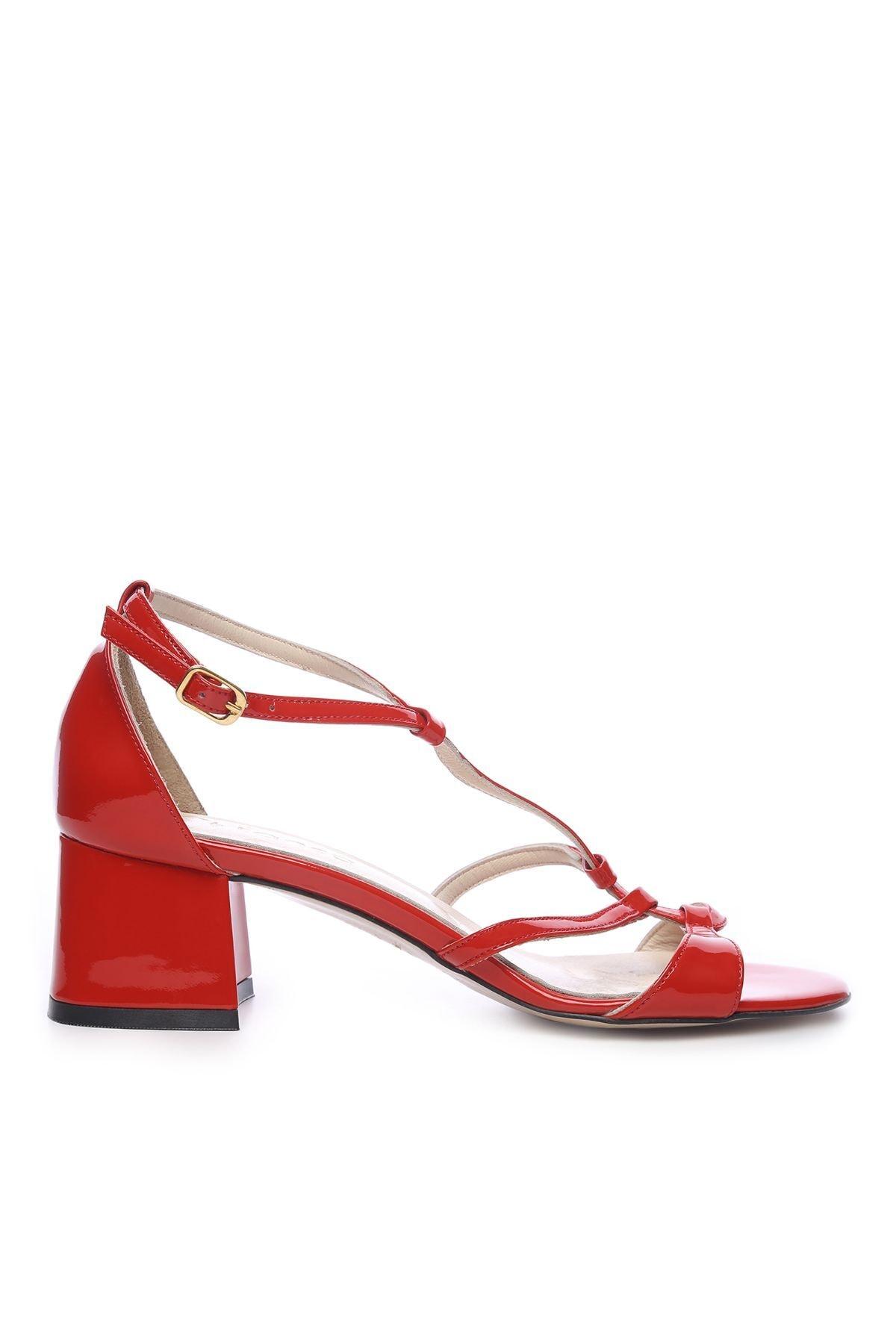 KEMAL TANCA Hakiki Deri Kırmızı Kadın Topuklu Ayakkabı 94 975 BN AYK 1