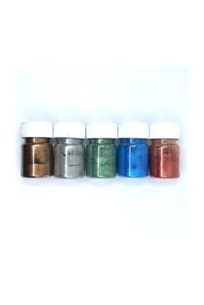 HOBİFLEX Metalik Sedefli Pigment Toz Boya Seti 5' li Set