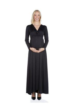 MYRA by LuvmaBelly 5210 Onu Büzgülü uzun Hamile Abiye Elbise