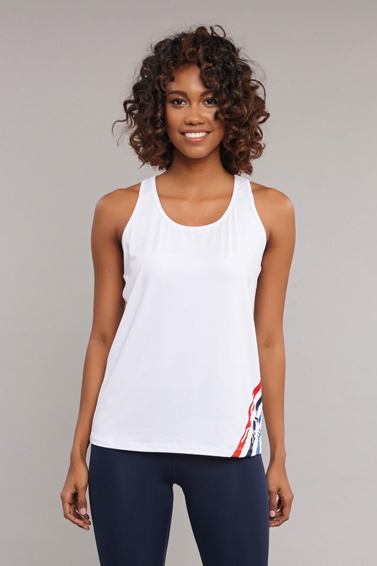 bilcee Beyaz Kadın Antrenman  Atlet ES-3511 1