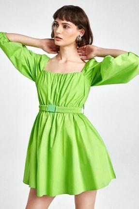 Nocturne Kadın Yeşil Balon Kol Mini Elbise N20Y-2219-0030