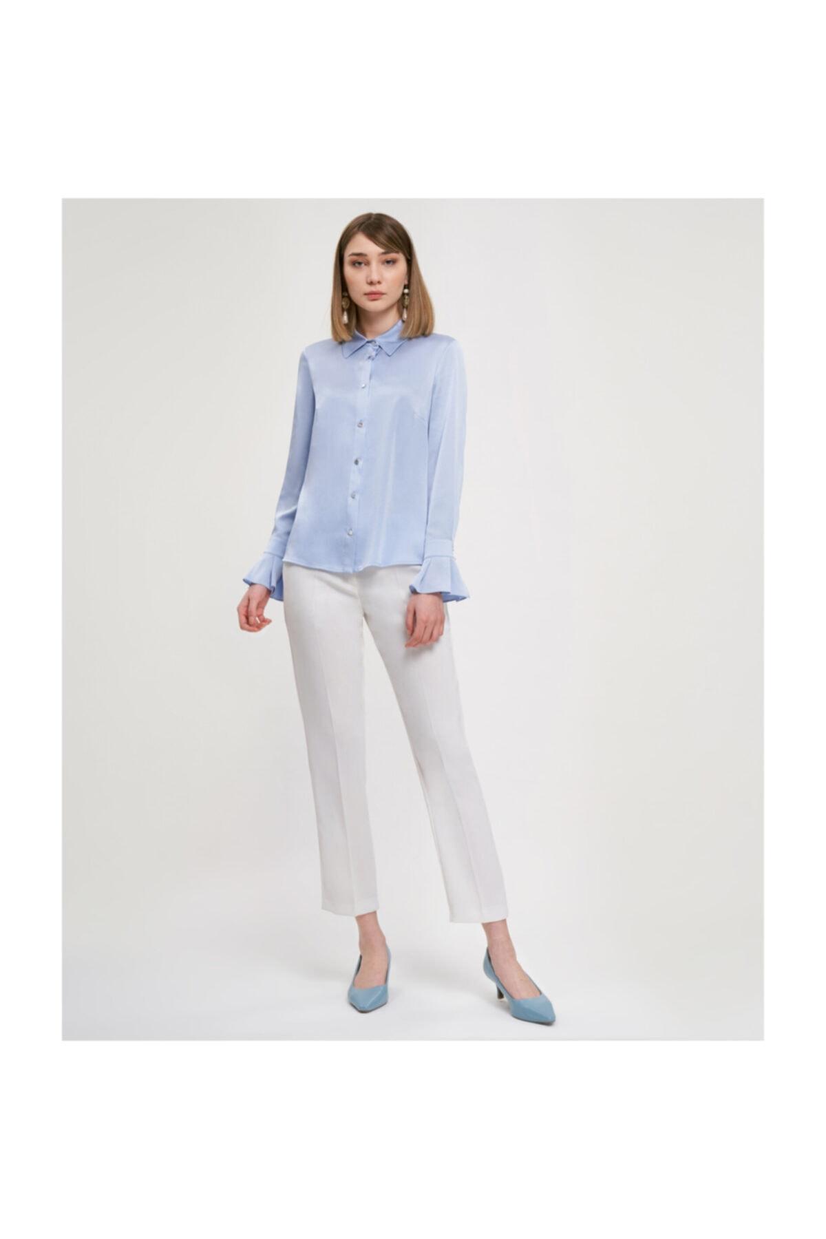 Aker Manşetli Açık Mavi Bluz V23070256 1