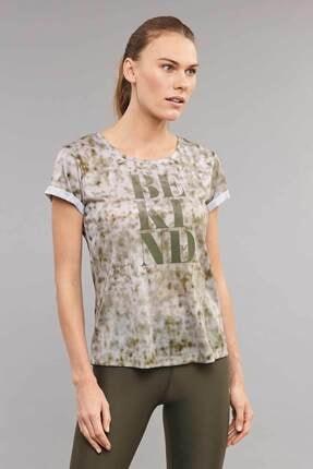bilcee Kahverengi Pamuk/Poly Kadın T-Shirt ES-3592