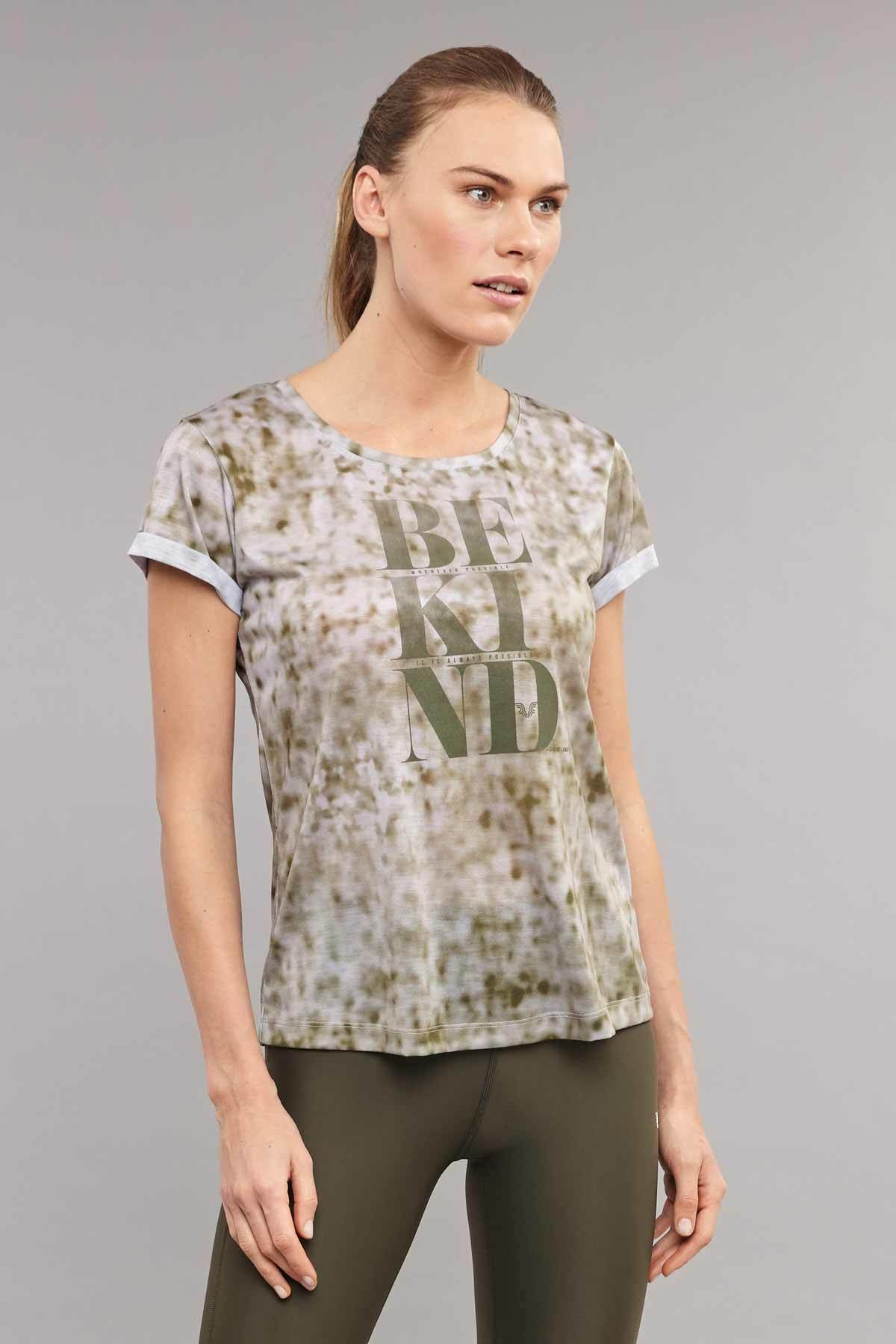 bilcee Kahverengi Pamuk/Poly Kadın T-Shirt ES-3592 1