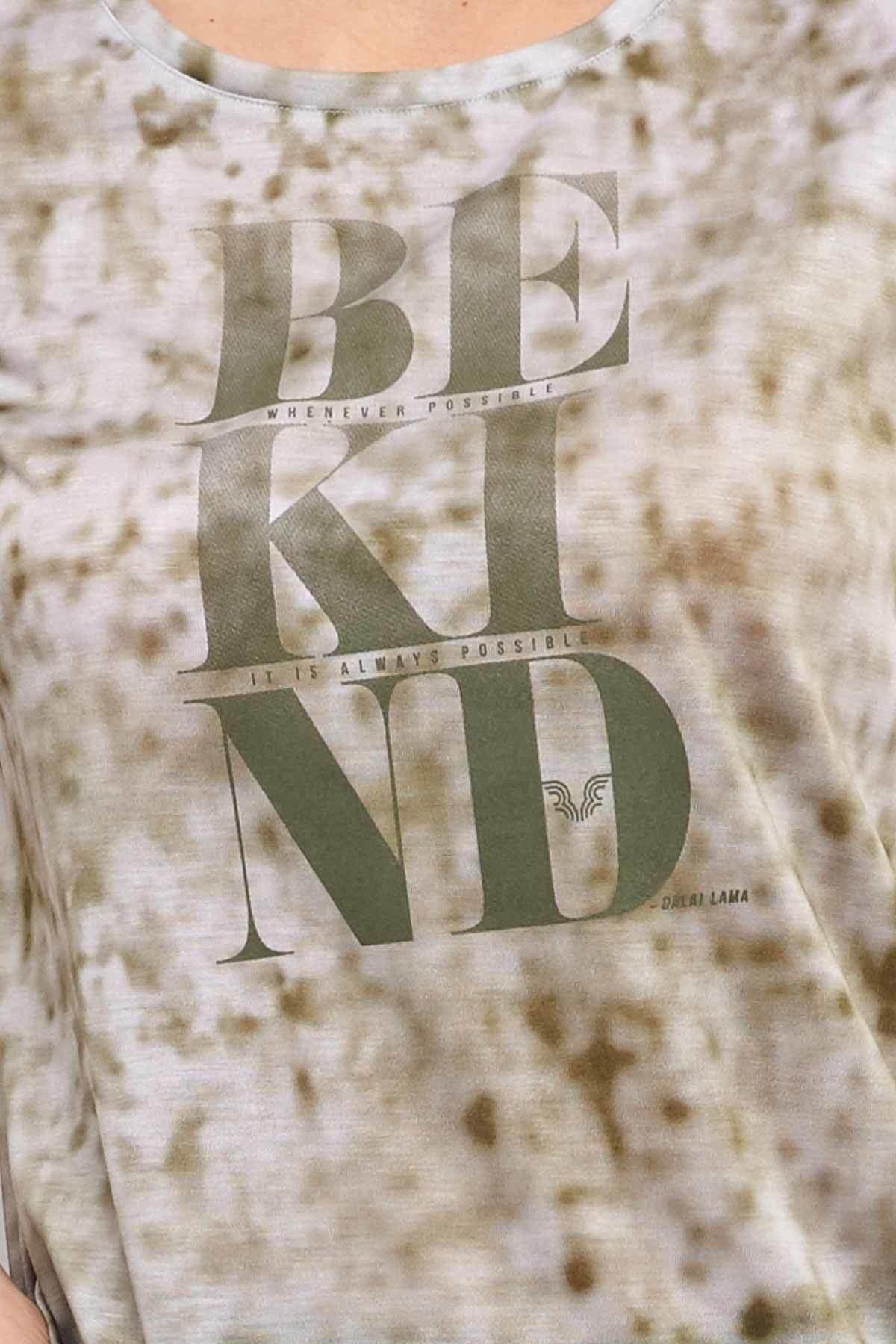 bilcee Kahverengi Pamuk/Poly Kadın T-Shirt ES-3592 2
