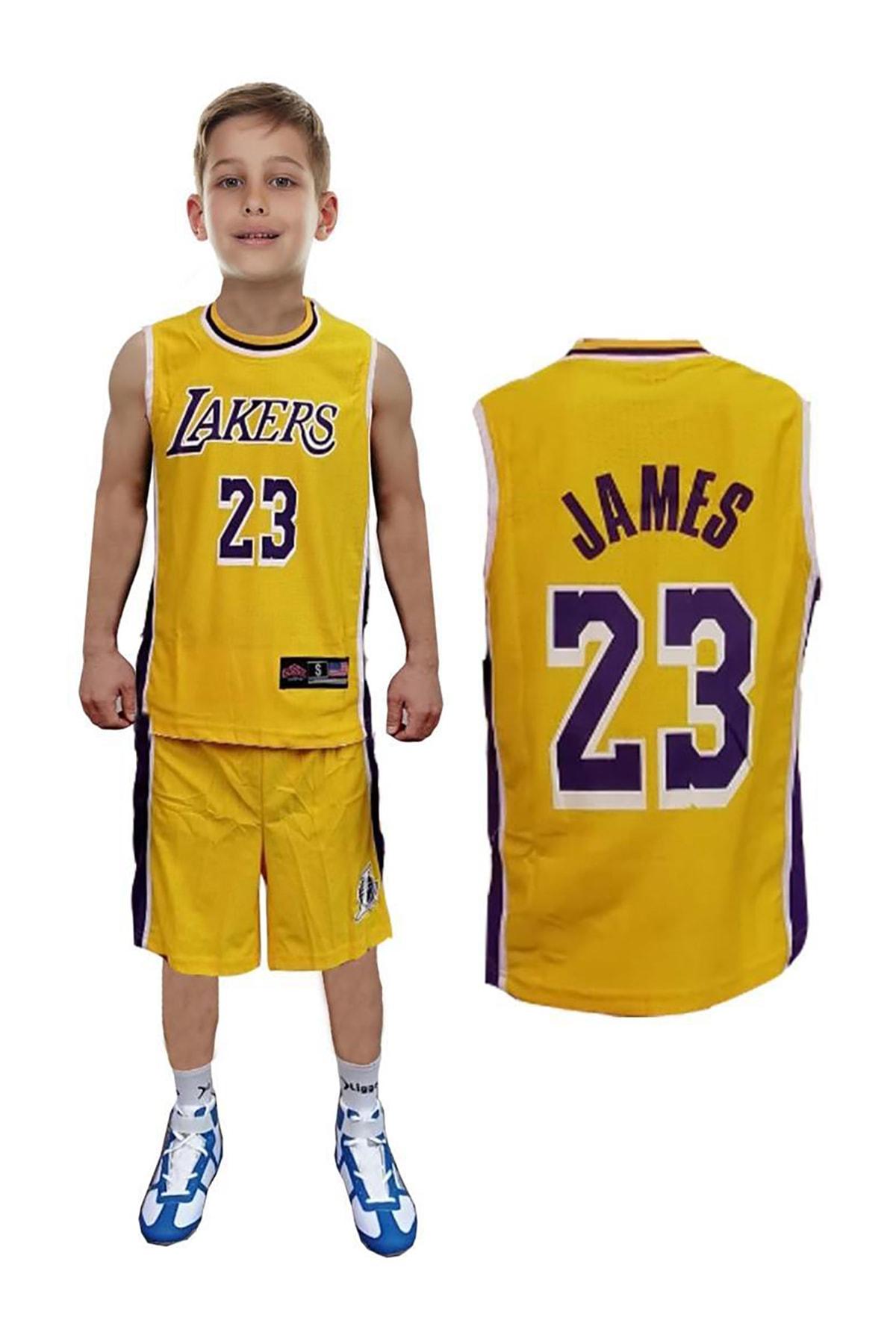 Liggo Lakers Lebron James Çocuk Basketbol Forma Şort Takımı