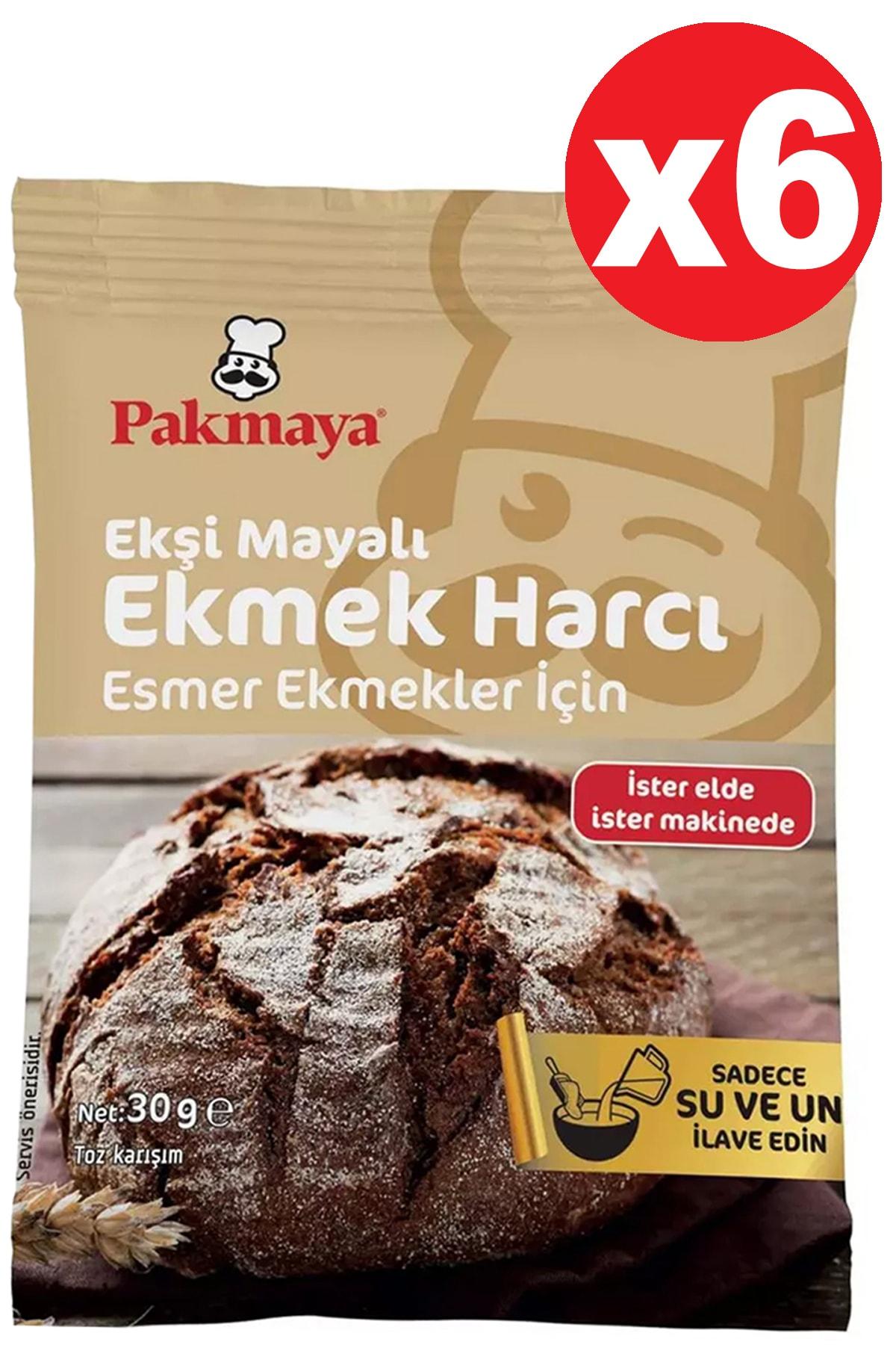 Pakmaya Ekşi Mayalı Esmer Ekmek Harcı 30 grx6 Adet 2