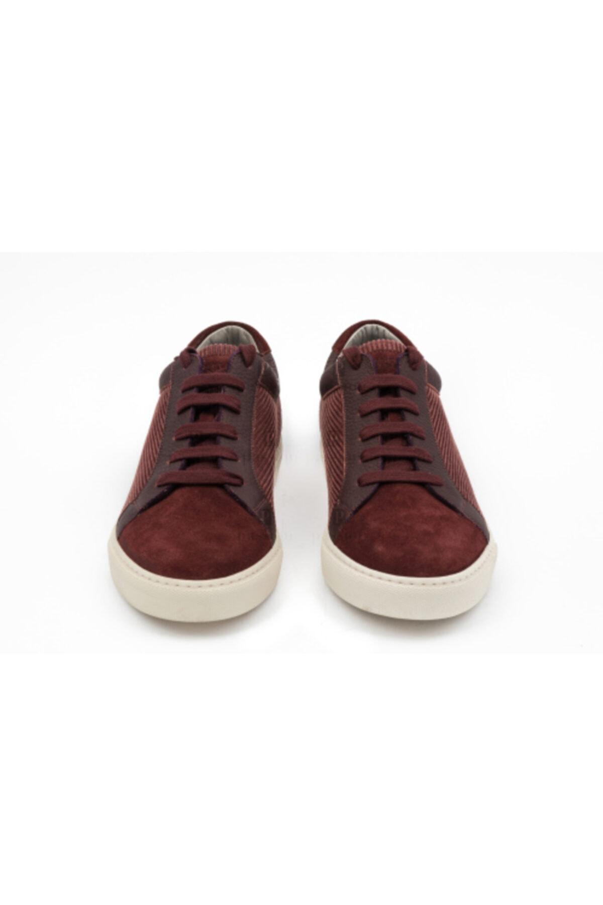 Brunello Cucinelli Erkek Bordo Sneakers 2