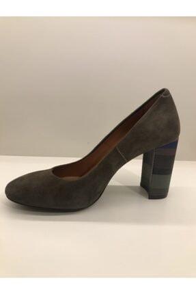 İnci Süet Haki Topuklu Ayakkabı