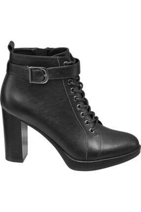 Catwalk Kadın Siyah Topuklu Bot