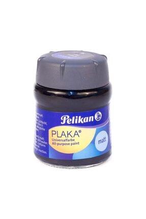 Pelikan Plaka Boyası Taş, Ahşap, Cam, Metal, Karton 50 Ml No:70 Black (6 Lı Paket) Pl101212pkbk